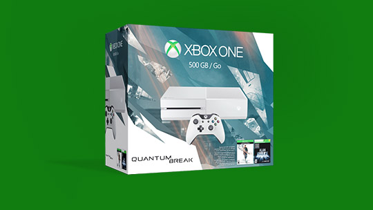 Une offre groupée Quantum Break pour XboxOne dans une boîte.
