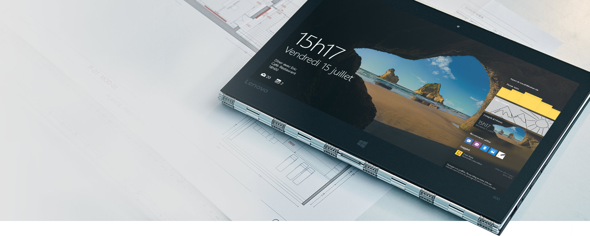 Écran de verrouillage d'un PC Windows10