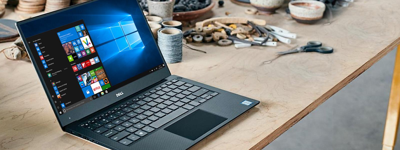 Dell XPS 13 avec écran de démarrage Windows 10