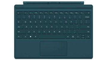 Clavier Type Cover pour Surface Pro 4 (bleu sarcelle)