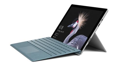Ordinateur portable SurfacePro avec clavier TypeCover.