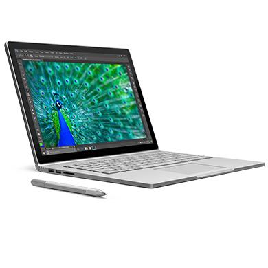 Surface Book, face vers la droite