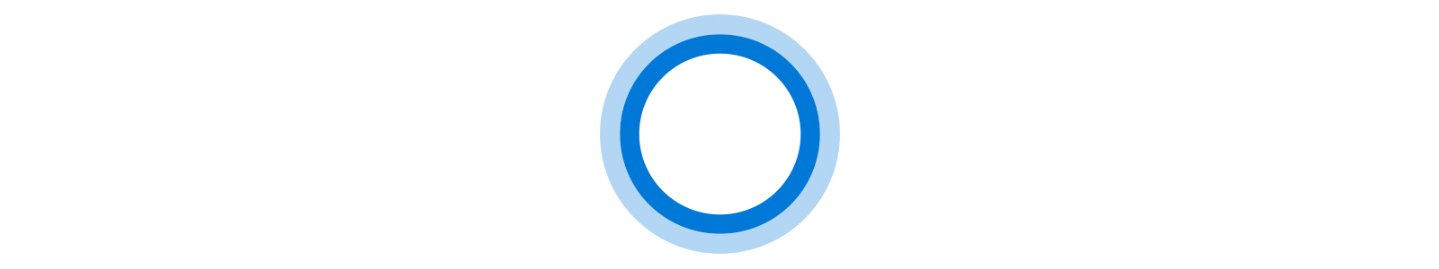 Icône animée de Cortana