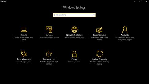 Mode Nuit Windows10