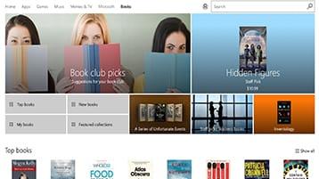 Livres Microsoft dans le Windows Store et Microsoft Edge