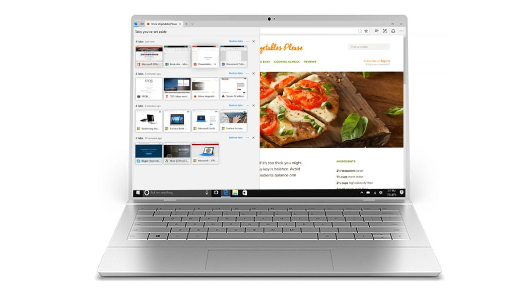 Flux d'aperçu de l'onglet Microsoft Edge