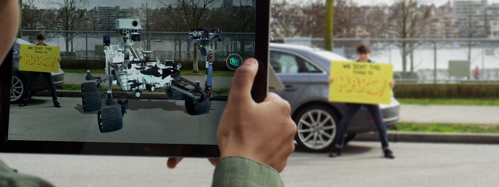 Vue 3D avec ajout d'une voiture dans l'image