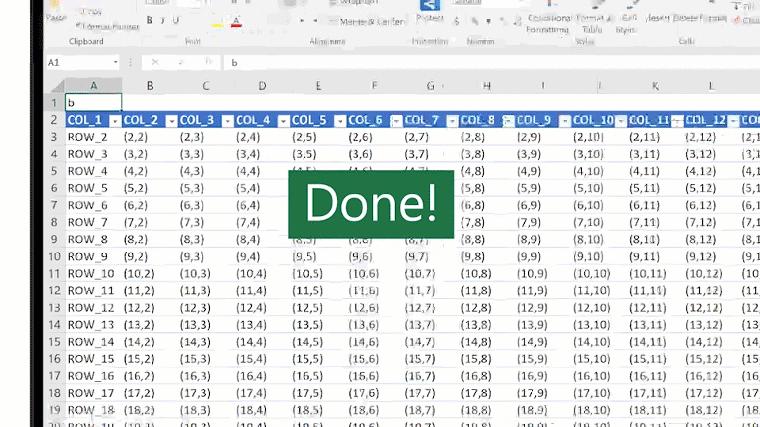 Image animée de la fonction RECHERCHE dans Excel.