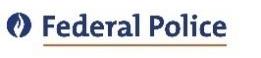 Logo de la Police fédérale de Belgique.