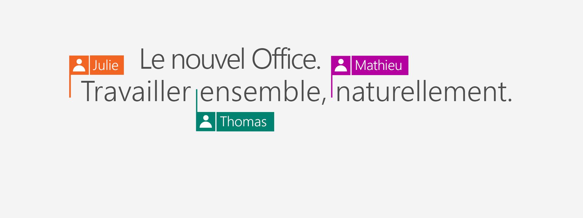 Achetez Office365 pour obtenir les nouvelles applications de 2016.