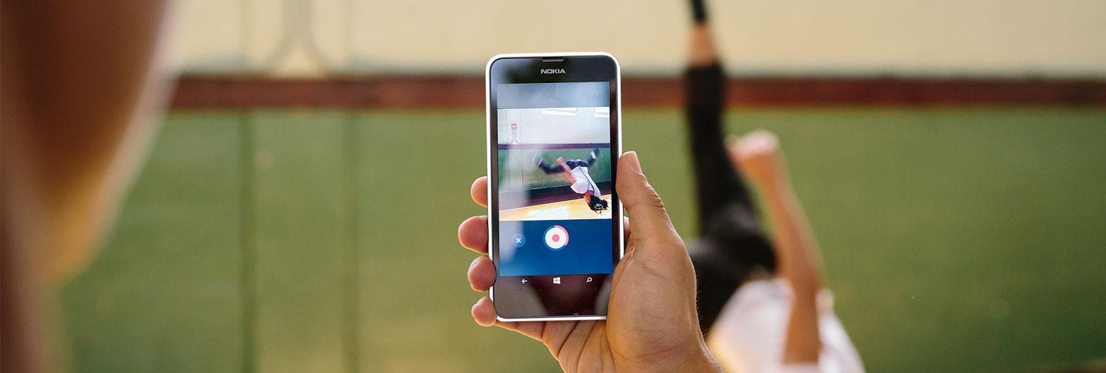 Download Skype Qik for video messaging.