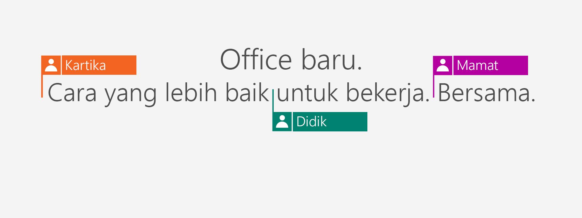 Beli Office 365 untuk mendapatkan aplikasi 2016 baru.
