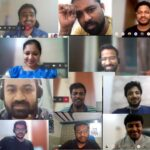 Screenshots of each member of the MyOrder team in a Microsoft Teams call, assembled in a collage.