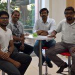 Left to right: Dinakar Jay, Dhanhamsan Gunalan, Kalyan Chakravarthi Arigela, and Venkata Saran