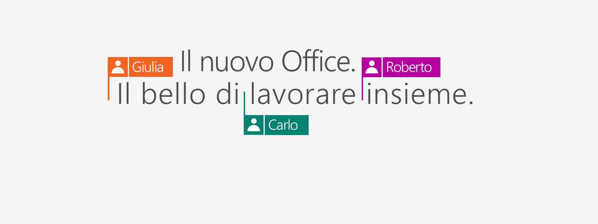 Acquista Office 365 per avere le nuove app 2016.