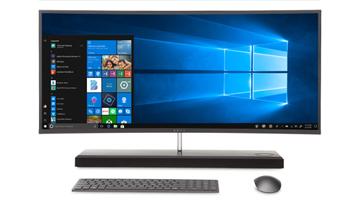 Windows 10 の画面が見えるデスクトップ デバイス