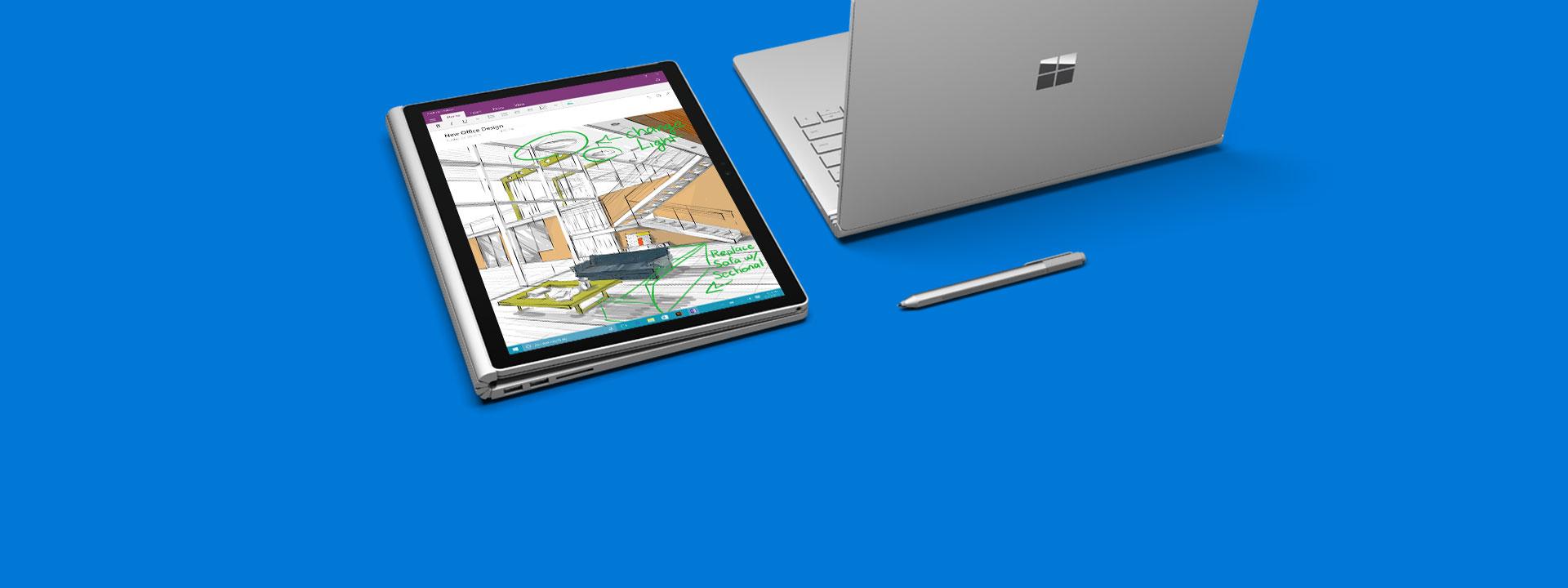 Surface Book の詳細情報。