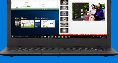画面に Microsoft Edge が表示されたノート PC