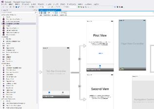 iOS 開発者向け Visual Studio UI スクリーンショット画像