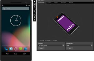 Android 向け Visual Studio エミュレーター スクリーンショット画像