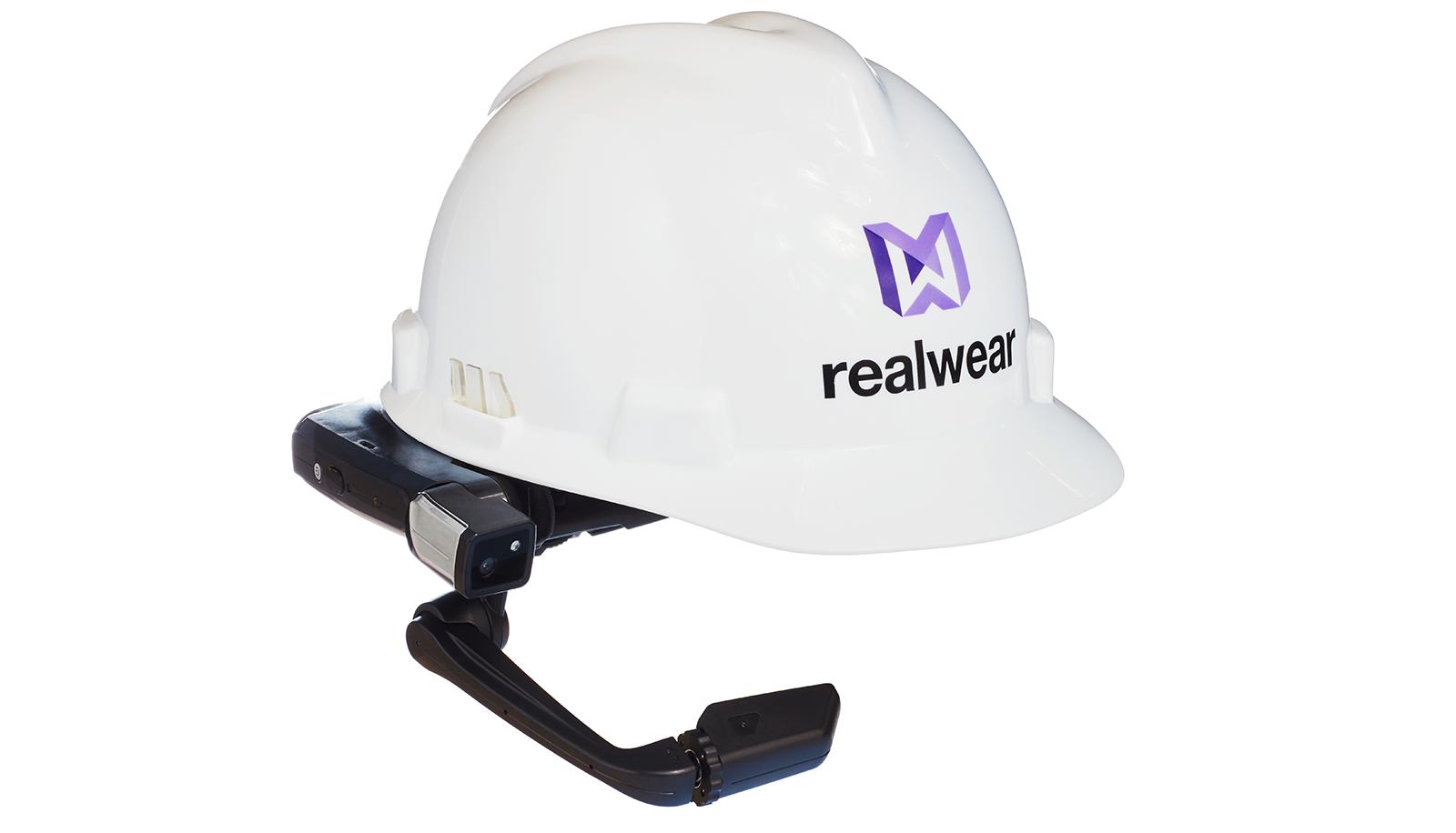 RealWear ヘルメットの画像。