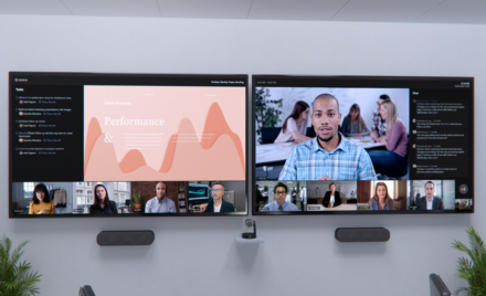 Image for: Microsoft Teams Rooms、Fluid、Microsoft Viva の新しいハイブリッド ワーク イノベーション