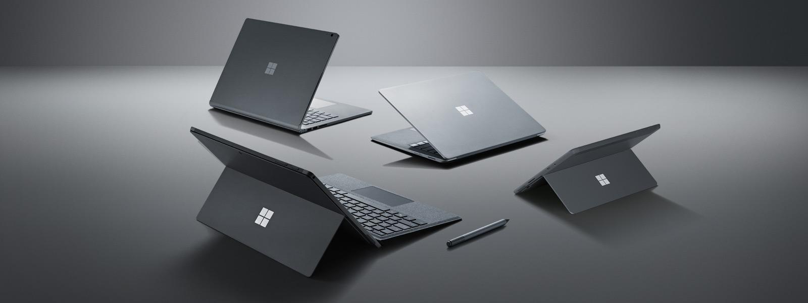 Surface Laptop 2, Surface Pro 6, Surface Go