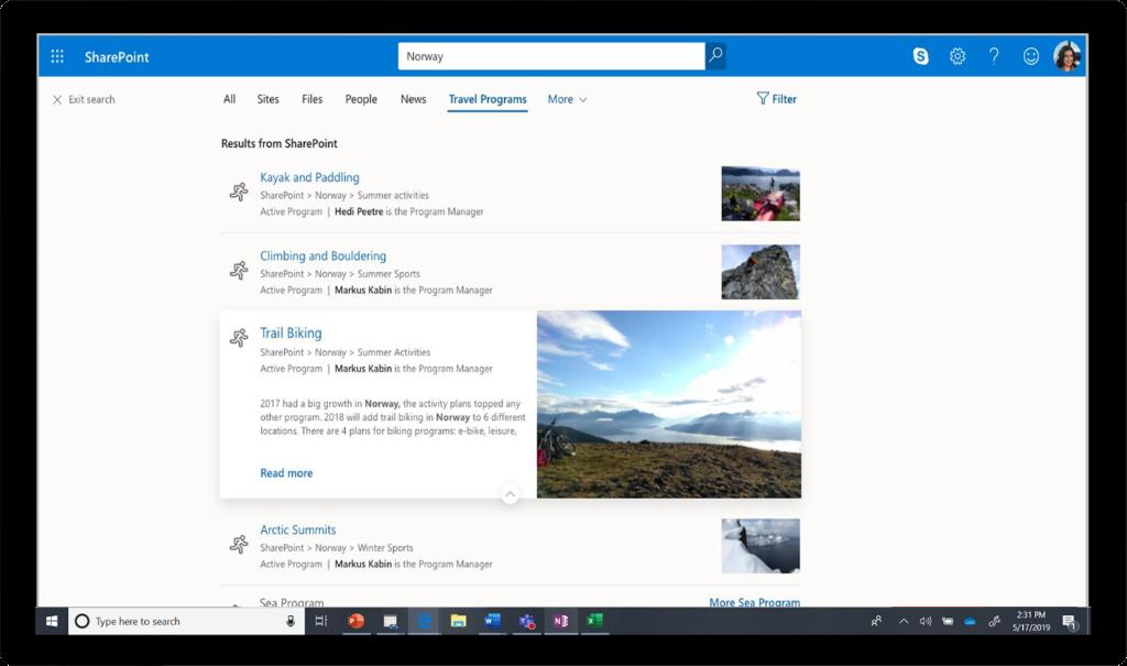"SharePoint에서 ""노르웨이""를 조회하는 데 사용된 검색"
