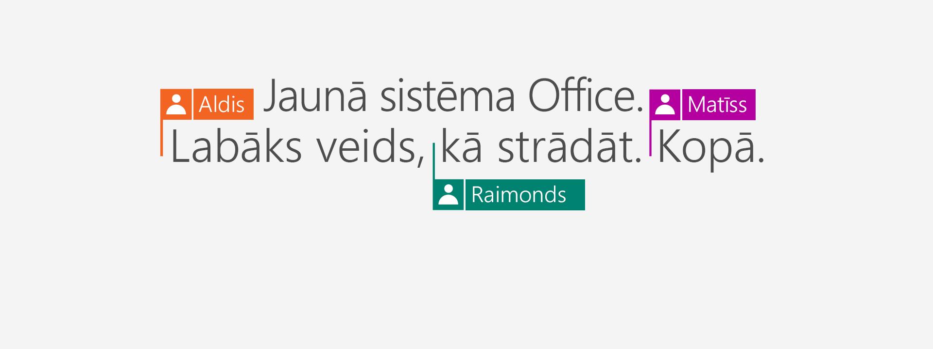 Iegādājieties Office365 un iegūstiet jaunās 2016.gada laidiena programmas.