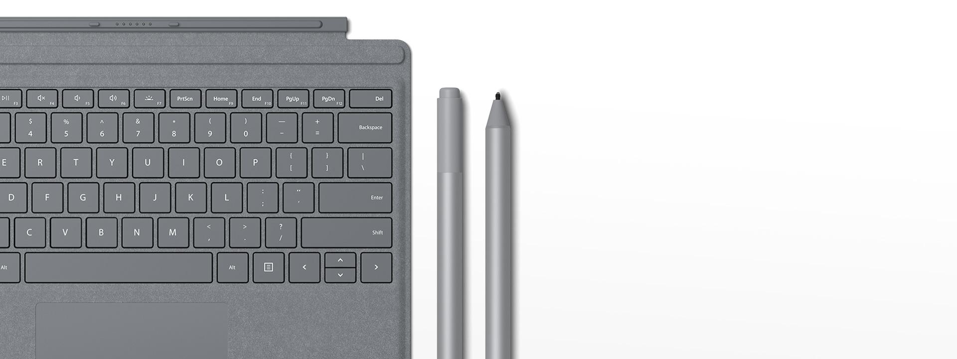 Surface Pro Type Cover, Surface-penn, sett med Surface-pennespisser
