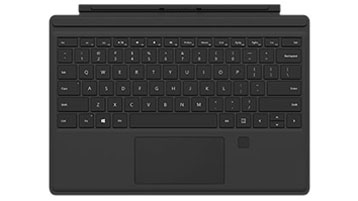 Surface Pro 4 Type Cover med fingeravtrykks-ID