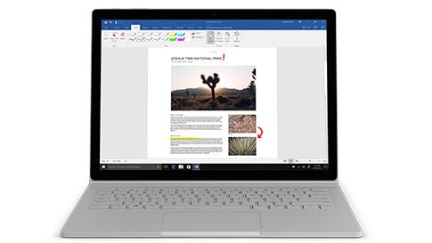 Surface Book 2 med 13,5-tommers PixelSense™-skjerm og Intel® Core™ i7-8650U-prosessor med Quad-Core-datakraft for i7 13.5