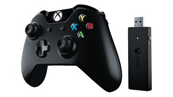 Xbox-controller en draadloze adapter voor Windows