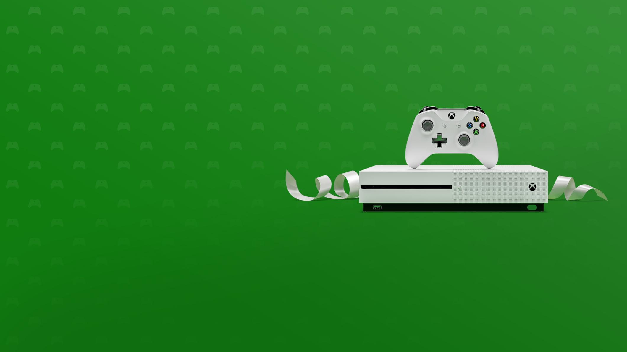 Una Xbox One S con un control