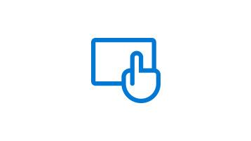 Ręka nad tabletem dotykająca ekranu