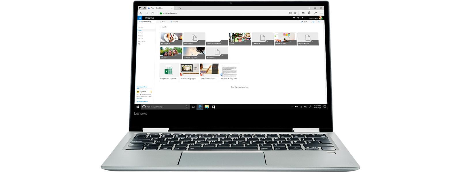 Ekran OneDrive na urządzeniu zsystemem Windows10