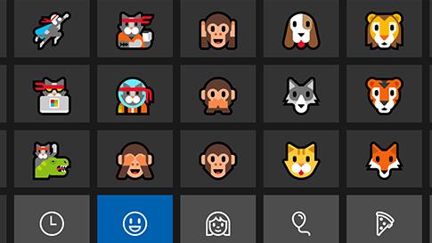 Windows10 — klawiatura z ikonami emoji