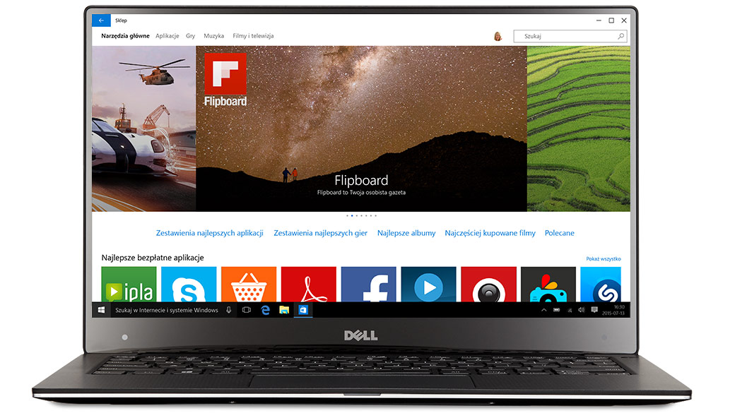 Laptop Dell zsystemem Windows10