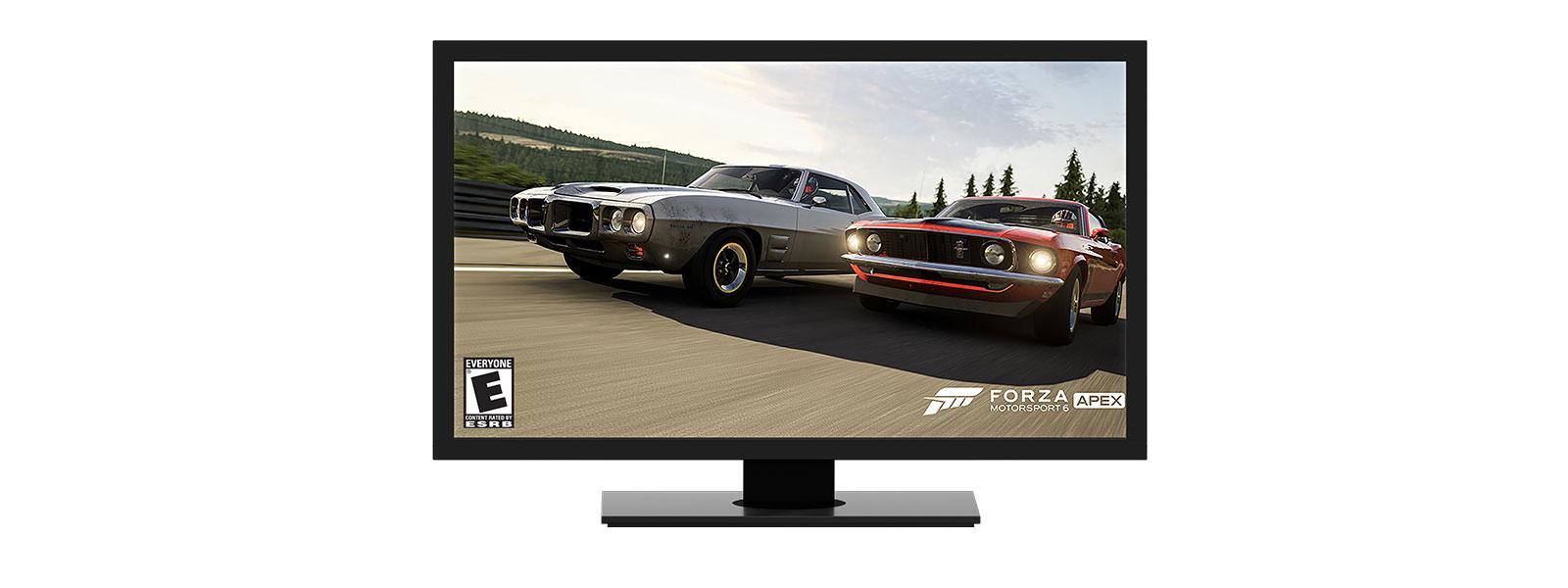 Jogo Forza em computador desktop Windows