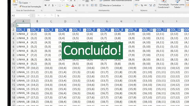 Uma imagem animada mostra a função PROC no Excel.