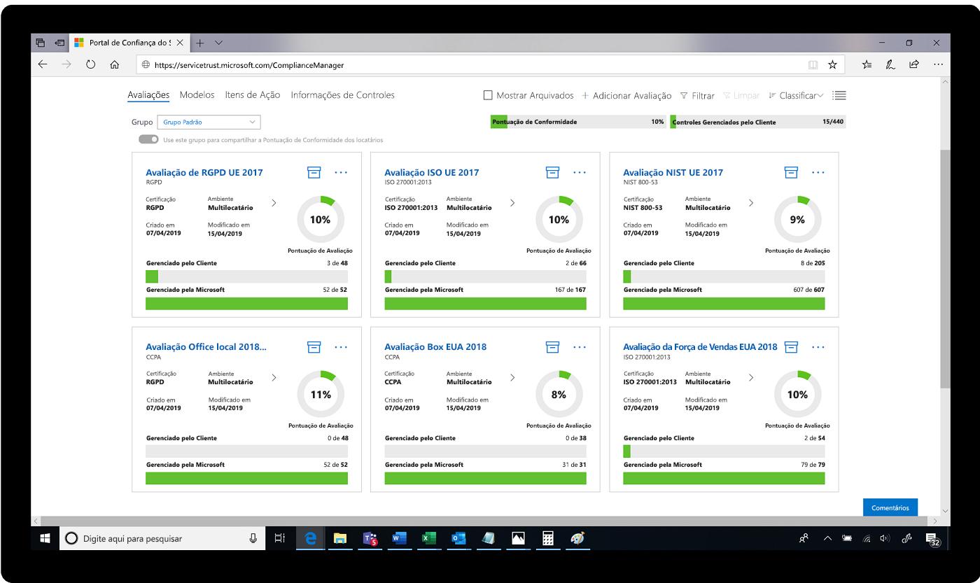 Captura de tela de avaliações no Portal de Confiança do Serviço.