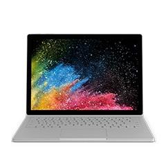 Surface Book 2 com ecrã inicial no modo de portátil.
