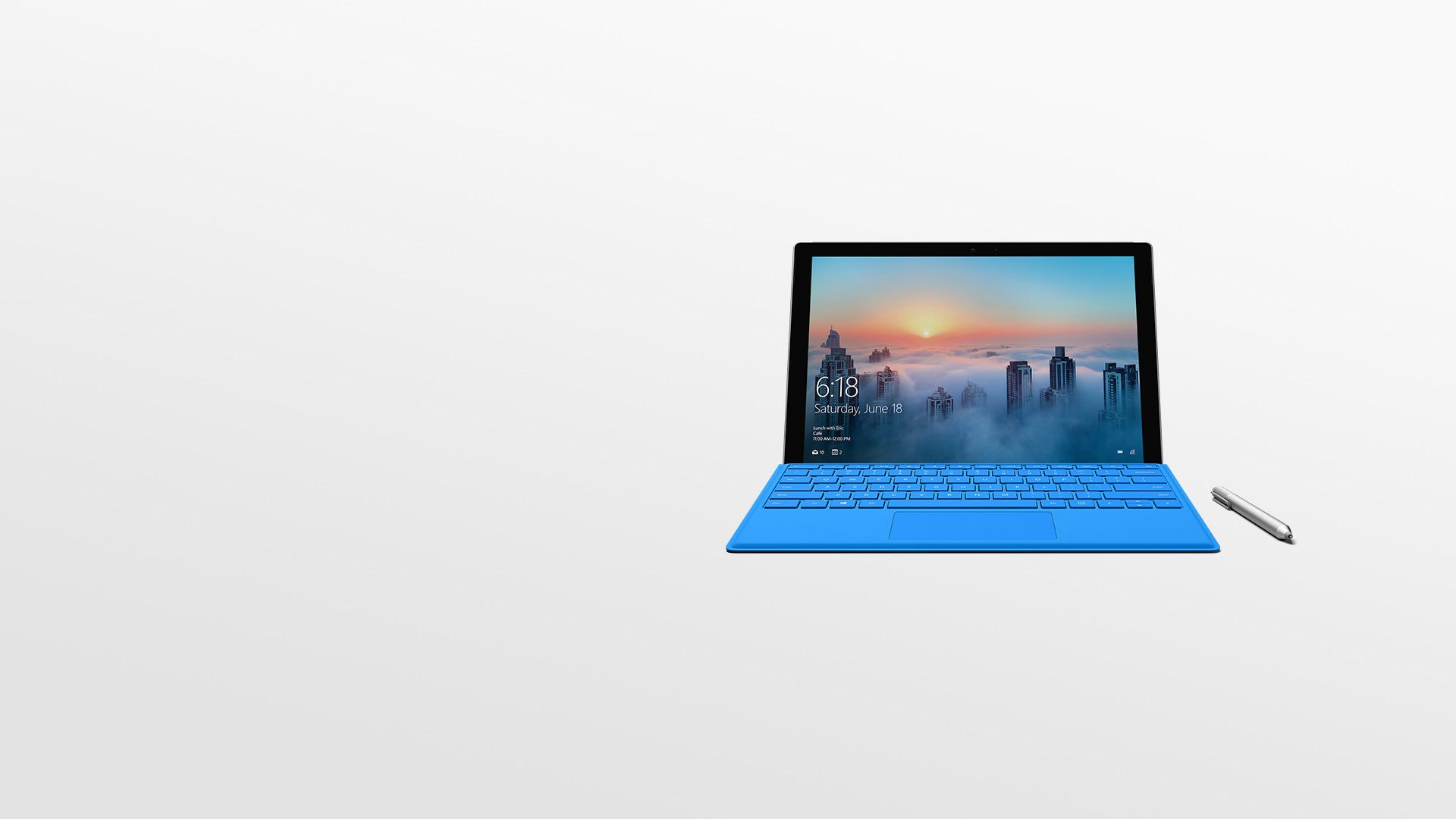 Surface Pro 4 com a Caneta para Surface.
