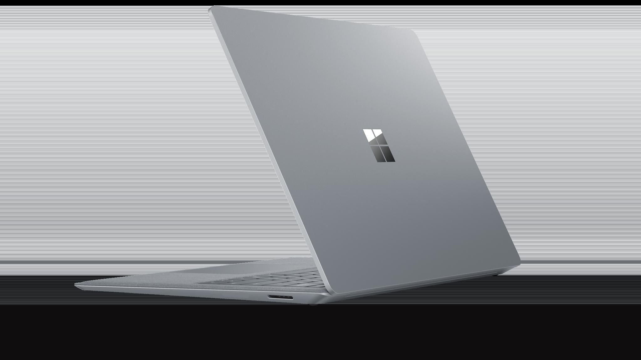 Vista lateral do Surface Laptop 2