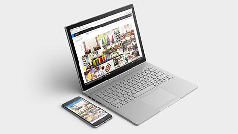 Sincronizar o seu telemóvel com qualquer dispositivo Surface