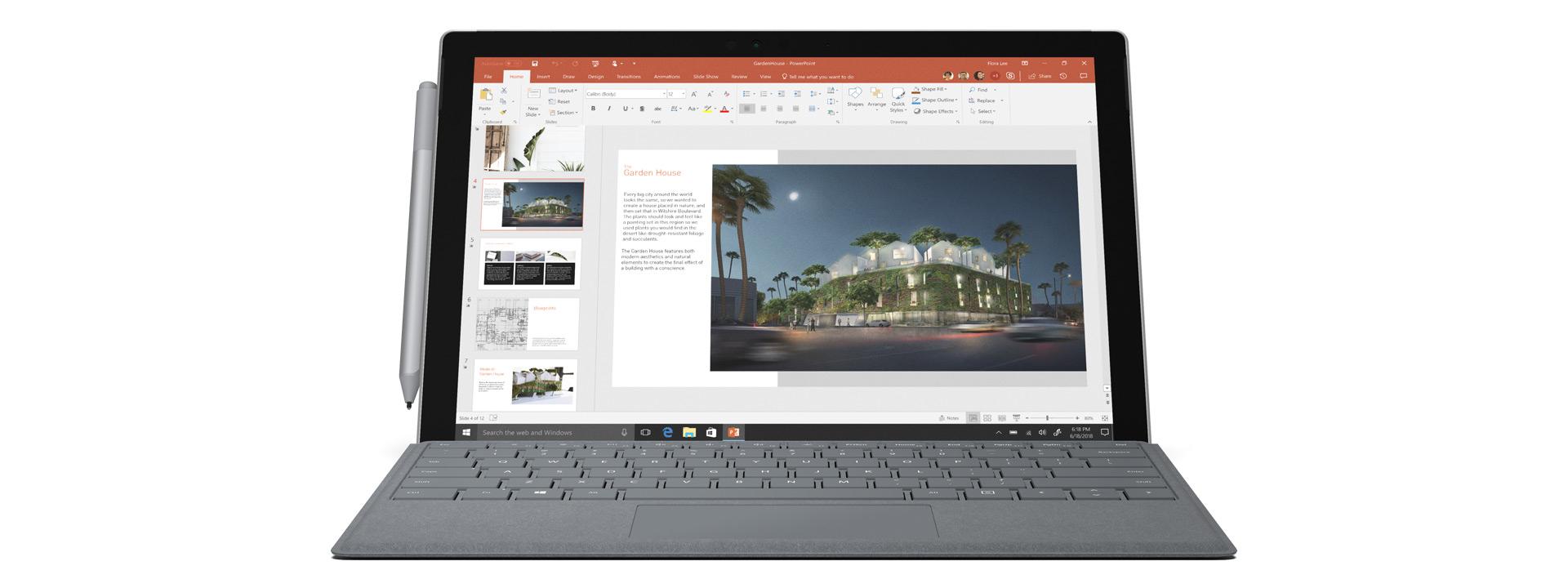 Surface Pro com Capa Teclado Signature para Surface Pro e Caneta para Surface