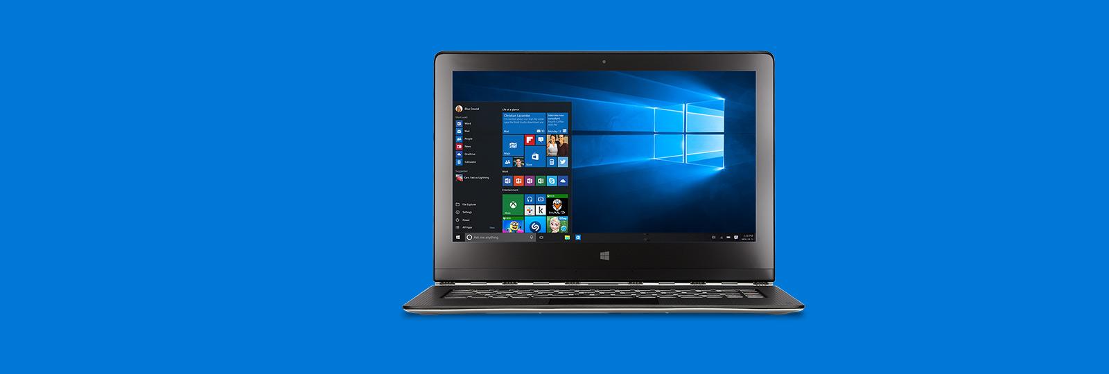 O melhor Windows de sempre. Atualização gratuita.*