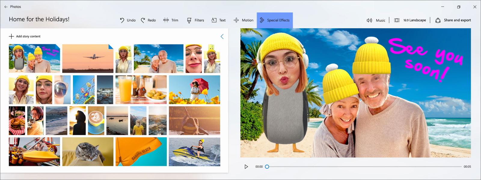 Aplicação Fotografias do Windows 10