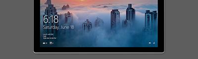 Vista diagonal do Surface Pro 4