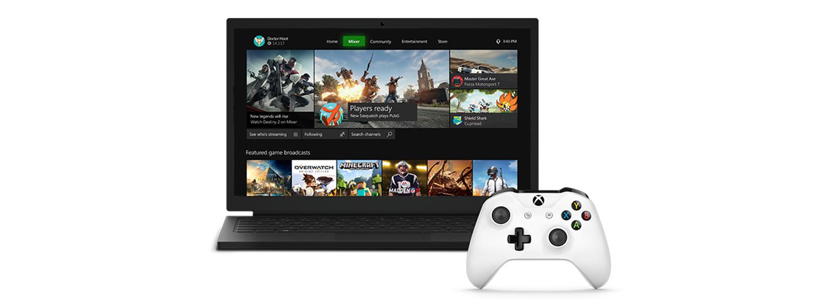 Новый интерфейс Mixer для игр на устройствах с Windows 10